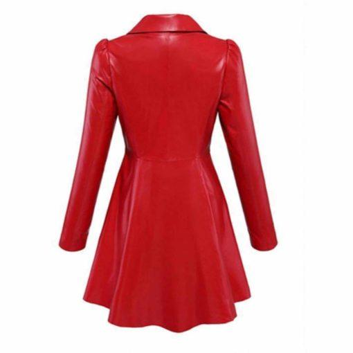 red long jacket, leather long jacket, blazer jacket, laeather jacket for men