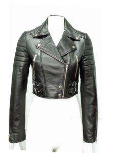 leather jacket, padded leather jacket, leather jacket for women, black leather jacket