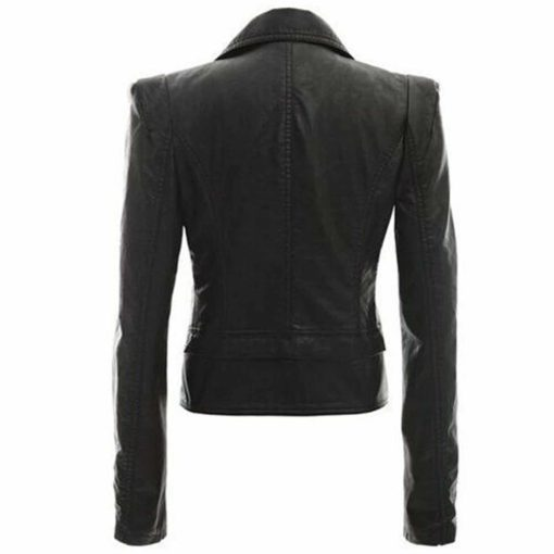 Victorian style leather jacket, leather jacket for women, Victorian leather jacket