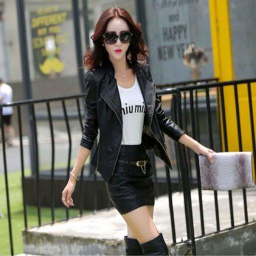 leather jacket, short leather jacket, stylish leather jacket