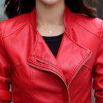 Short-Leather-Blazer-Coat-Jacket-for-Women-red-zip