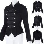 Steampunk-Emo-MCR-Punk-Gothic-Military-Jacket