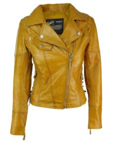 leather jacket, yellow leather jacket, leather jacket for women, studded leather jacket, jacket for women