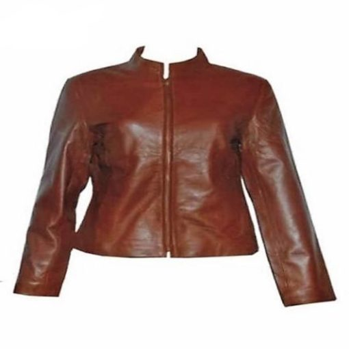 Vintage Style Leather Tailcoat Jacket for Women