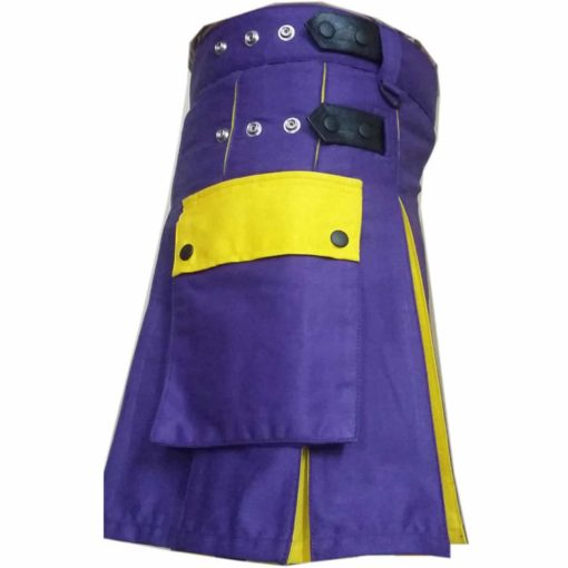 Blue Yellow Hybrid kilt, kilt for sale, Hybrid kilts, kilts for men