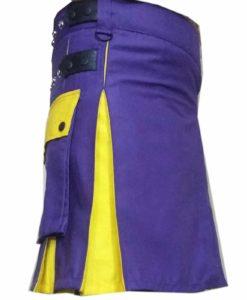 Blue Yellow Hybrid kilt, kilt for sale, Hybrid kilts, kilts for men
