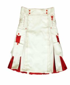 White red hybrid kilts, hybrid kilts, kilt for sale,