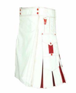 White red hybrid kilts, hybrid kilts, kilt for sale,