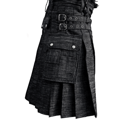 denim kilt, kilt for mens, mens denim kilt, kilt for men