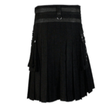 Black-deluxe-kilt-with-chain-black