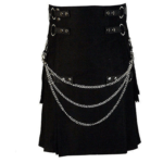 Black-deluxe-kilt-with-chain-front