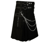 Black-deluxe-kilt-with-chain-side