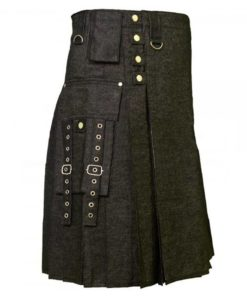 denim kilts, kilt for men, mens kilt, denim kilts for men