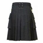 Denim-kilt-Detachable-pockets-back