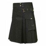 Denim-kilt-Detachable-pockets-pockets