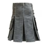 Denim-kilt-with-silver-straps-back