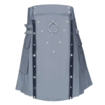 Grey-Utility-Kilt-with-Leather-Straps