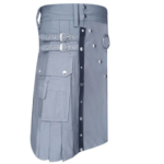 Grey-Utility-Kilt-with-Leather-Straps-side