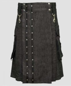 denim kilt, mens kilt, mens denim kilt, kilt for men