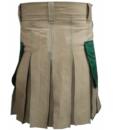Khakhi-Christ-Kilt-with-Green-Pockets-back