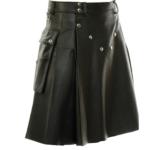 Black-Studded-Leather-Kilt-for-Men