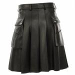 Black-Studded-Leather-Kilt-for-Men-Back