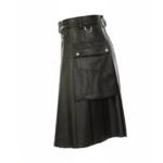 Black-Studded-Leather-Kilt-for-Men-Side