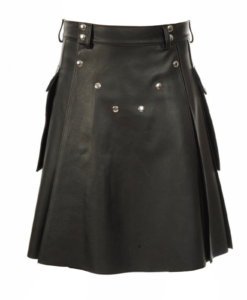 black leather kilt, studded leather kilt, leather kilt for sale, buy leather kilts, black leather kilt, buy leather kilt, buy black leather kilt, leather kilts for men, mens leather kilt,