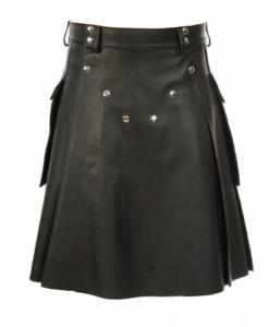 black leather kilt, studded leather kilt, leather kilt for sale, buy leather kilts, black leather kilt, buy leather kilt, buy black leather kilt, leather kilts for men, mens leather kilt,