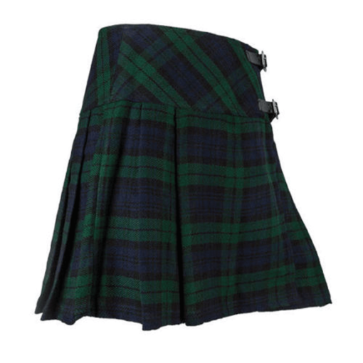 blackwatch short kilt, blackwatch tartan, blackwatch tartan kilt, blackwatch kilt for sale, womens kilt for sale, womens tartan kilt for sale