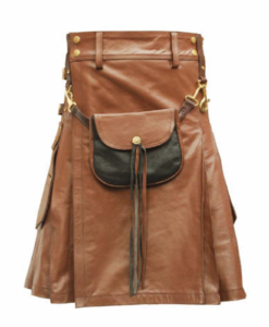 leather kilt for sale, brown leather kilt, brown leather kilt for sale, buy brown leather kilt, brown leather kilt with sporran
