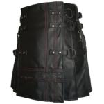 Heavy-Leather-Kilts-for-Men-Red-Stitched-tilt
