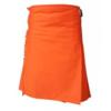 orange tartan kilt, orange kilt, scotish orange kilt, plain kilt, women kilt for sale, tartan kilt for sale
