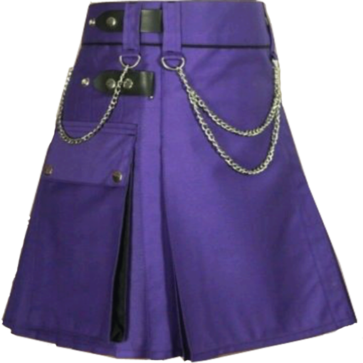 purple kilt, purple kilt for sale, utility kilt for sale, womens kilt, womens utility kilt, utility kilt for women,