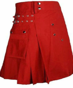 red kilt, red utility kilt, kilt for sale, womens kilt, womens kilt for sale