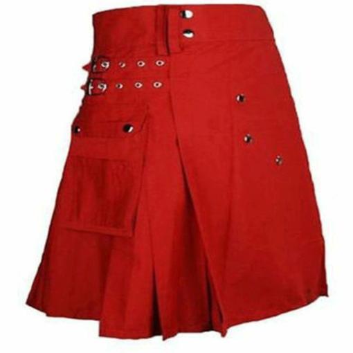 red kilt, red utility kilt, kilt for sale, womens kilt, womens kilt for sale