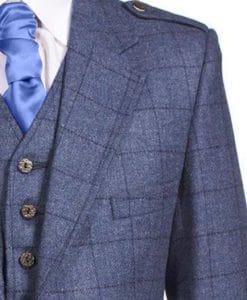 Tweed Argyle Jacket, Stylish Tweed Kilt jacket, Kilt Jacket, Tweed Jacket for Men