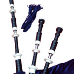 Bagpipe Black Mount Navy Blue closeup