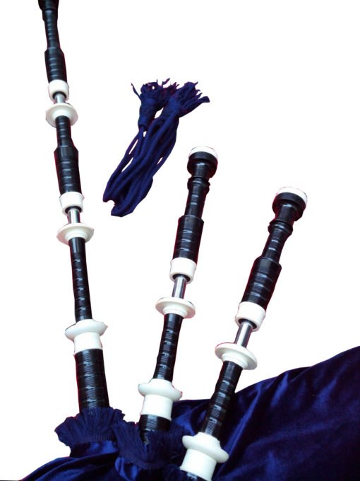 Bagpipe Black Mount navy blue, Navy Blue Bagpipe, Rosewood Bagpipe, Bagpipe for sale