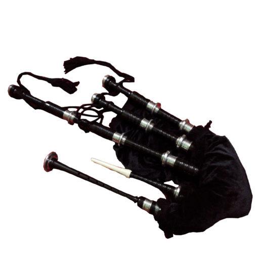 Bagpipe Black Mounts, Bagpipe Black Mounts for sale, Bagpipe Black Mounts sale