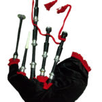Bagpipe Black Mounts with Red Flare