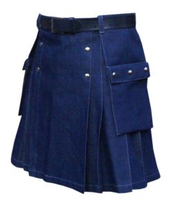denim kilt, denim kilt for sale, simple denim kilt, denim kilt for sale