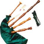 Rosewood Highland Bagpipe Green Tilk