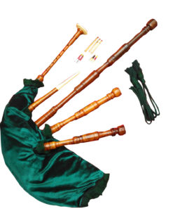 Bagpipe for sale, Green Bagpipe, Rosewood Highland Bagpipe green, Bagpipe Green for sale