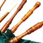 Rosewood Highland Bagpipe Green closeup
