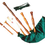 Rosewood Highland Bagpipe Green side