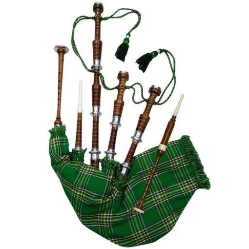 Rosewood Irish National Tartan Bagpipe, Irish national tartan bagpipe, Irish Bagpipe, Irish Tartan Bagpipe