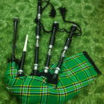 Rosewood-Irish-National-Tartan-Bagpipe-Black-side