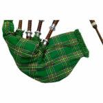 Rosewood-Irish-National-Tartan-Bagpipe-close