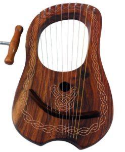 Rosewood harp, Rosewood Lyre Harp, Lyra Harp, Lyre Harp 10 strings, lyre music, celtic lyre harp